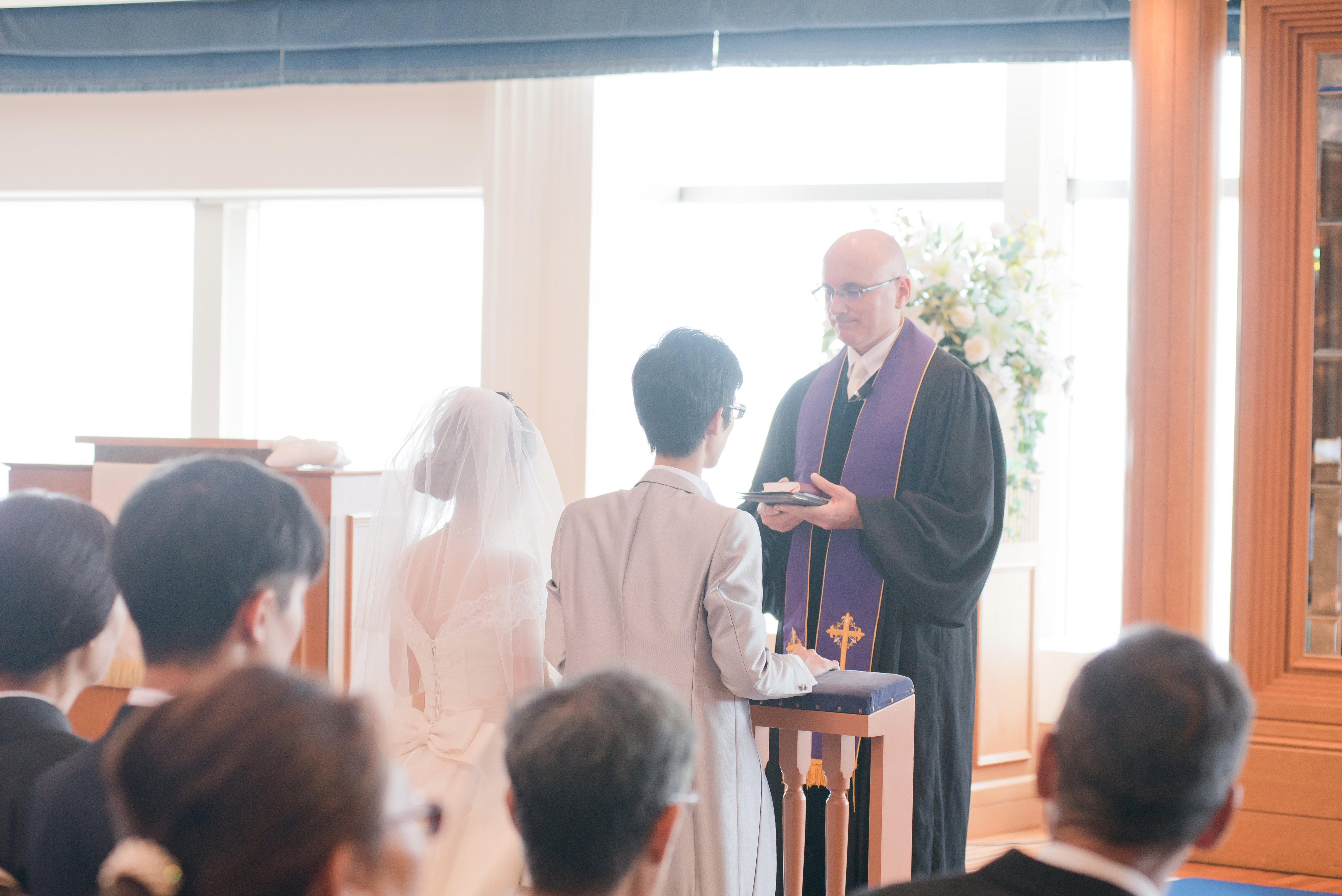 キリスト教式 結婚式でバンコを行いました♪|横浜 元町 ウエディングサロン